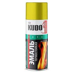 """Эмаль аэрозоль """"KUDO"""" термостойкая золотая (520мл.)"""