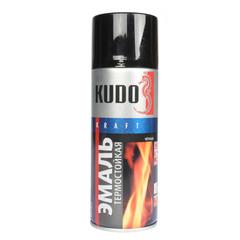 """Эмаль аэрозоль """"KUDO"""" термостойкий чёрный (520мл.)"""