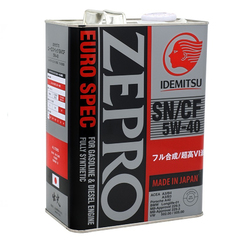Масло моторное IDEMITSU 5w-40 ZEPRO EURO SPEC SN/CF синт. (4 л.)