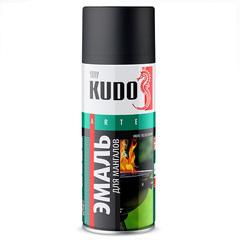 """Эмаль аэрозоль """"KUDO"""" черная термостойкая для мангалов(520мл)"""