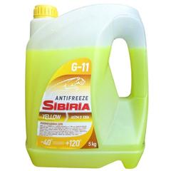 Антифриз SIBIRIA G11 желтый (5 кг.)