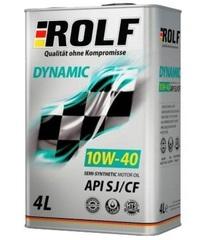 Масло моторное ROLF Dynamic 10W-40 Sl/CF  п/синтетика (4 л.)