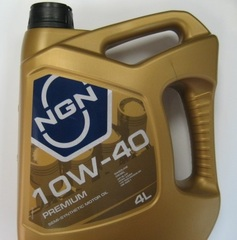 Масло моторное NGN PREMIUM 10w-40 SL/CF п/синтетика (4л.)