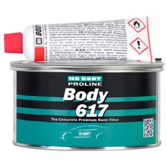 """Шпаклёвка """"BODY"""" 617 со стекловолокном , с отвердителем (0,5 кг)"""