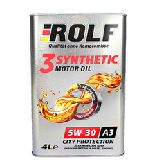Масло моторное ROLF 3-SYNTHETIC  5W-30 A3/B4 синтетика (4 л.)