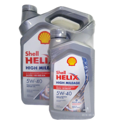 Масло моторное Shell Helix HIGH MILEAGE 5w40 синтетика (АКЦИЯ 4+1л.)