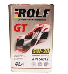 Масло моторное ROLF GT 5W-30 API SN/CF  синтетика (4 л.)