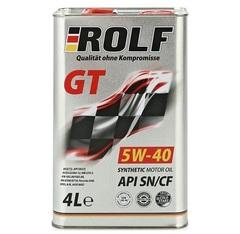 Масло моторное ROLF GT 5W-40 API SN/CF синтетика (4 л.)