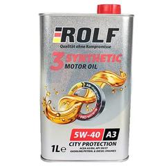 Масло моторное ROLF 3-SYNTHETIC  5W-40 A3/B4 синтетика (1 л.)