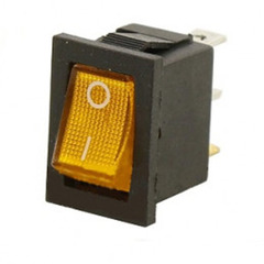 Переключатель 12 В прямоугольный 15 А с подсветкой