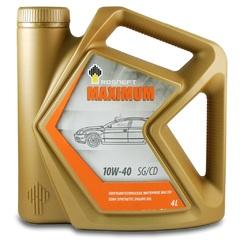 Масло моторное Rosneft Maximum 10w-40 SG/CD п/синтетика (4л.)