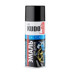 """Эмаль аэрозоль """"KUDO"""" черная матовая акриловая (520мл)"""