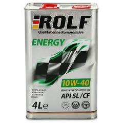 Масло моторное ROLF Energy 10W-40 API Sl/CF п/синтетика (4л.)